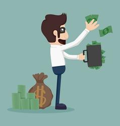 Businessman corruption concept vector