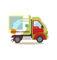 cleaning service car flat vector image vector image