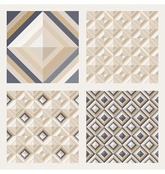 Floor tiles - geometrical patterns set vector image vector image