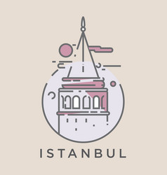 galata tower istanbul vector image