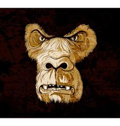 Grunge gorilla face vector