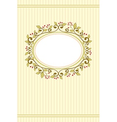 Holly christmas card vector image