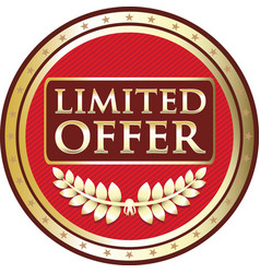 limited offer red label vector image vector image