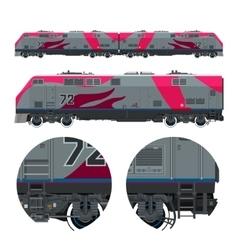 Locomotive rail transportation vector