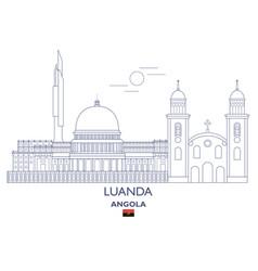 luanda city skyline vector image vector image