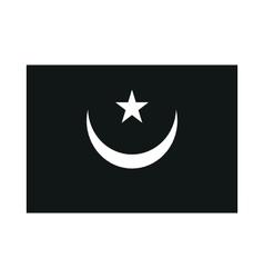 Mauritania flag isolated monochrome on white vector