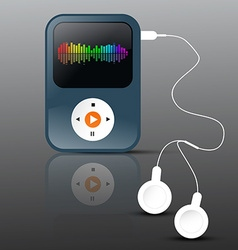 MP3 Player Abstract mp3 Player with Headphones and vector image vector image