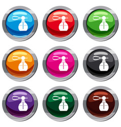 Perfume bottle with vaporizer set 9 collection vector