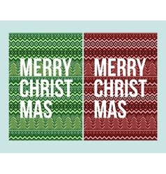 pixel Christmas winter pattern vector image