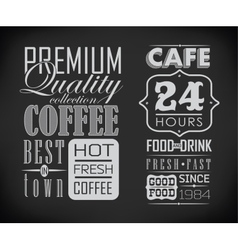 Set of coffee cafe label set of typographic vector