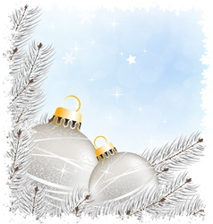 Sparkling christmas decorations vector