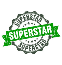 superstar stamp sign seal vector image vector image