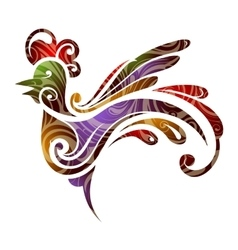 Year 2017 symbol rooster vector