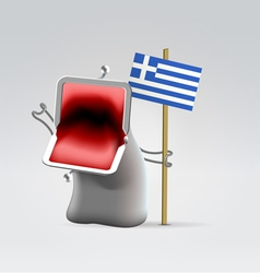 Money for greece vector image
