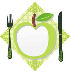 Green apple menu template vector