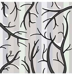 snow on branches vector image