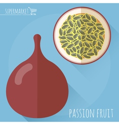 Passion fruit icon vector