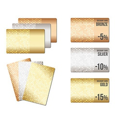 Set of luxury metallic backgrounds vector image