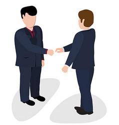 Trade shaking hands vector