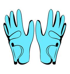 Golf glove icon icon cartoon vector