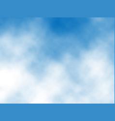 Blue sky clouds vector