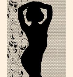 Swimsuit silhouette vector
