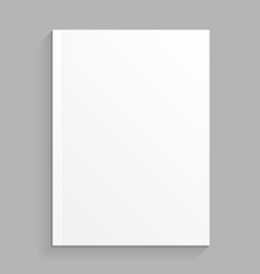Blank cover of magazine book booklet brochure vector