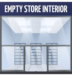 Empty store interior vector image
