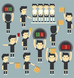 Umpire football vector