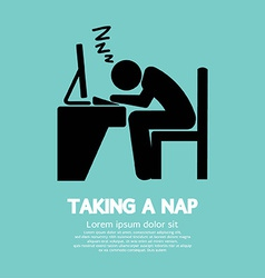 Taking a nap graphic symbol vector