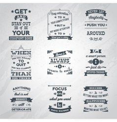 Success quotes set vector