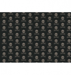Skull and bone pattern vector