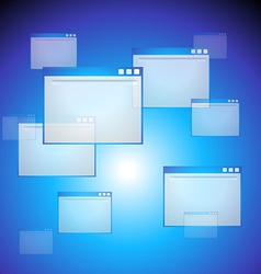 Web blue background vector