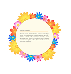 Floral banner circle vector