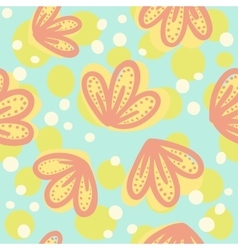 Cute hand drawn floral pattern vector