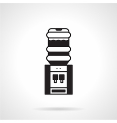 Black electric water cooler icon vector