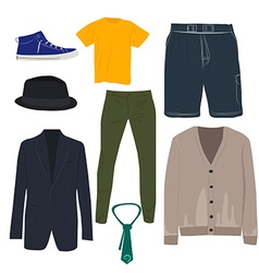 Man clothing set vector