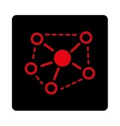 Molecule Links icon vector image