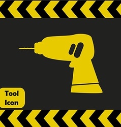 Power drill icon vector