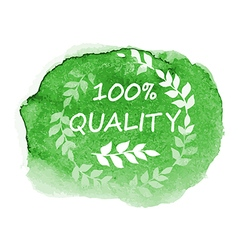 Green organic quality label vector