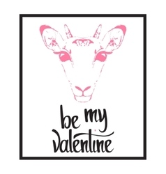 Be my valentine valentines day template vector