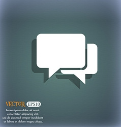 Speech bubbles icon on the blue-green abstract vector