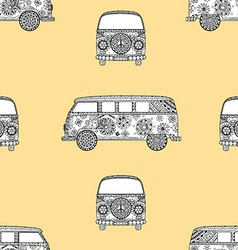 Pattern of vintage car vector