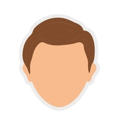Avatar icon man person head design vector