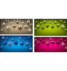 Arc colorful backgrounds with christmas balls vector