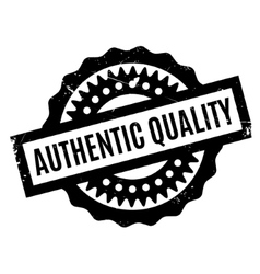 Authentic quality rubber stamp vector