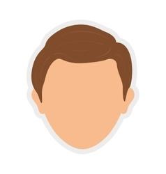 Avatar icon man person head design vector