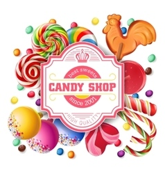background of sweets vector image