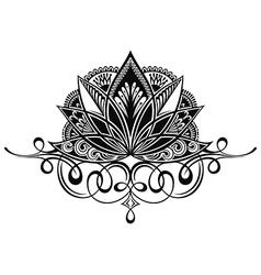 Beautiful lotus flower line vector image vector image