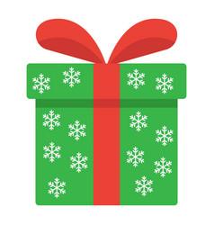 christmas gift box flat icon new year vector image